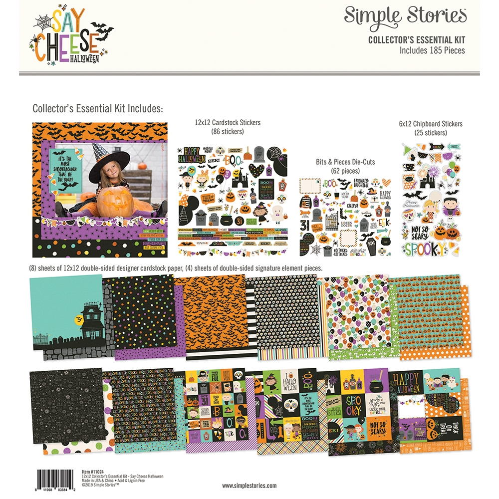 Simple Stories SAY CHEESE HALLOWEEN 12 x 12 Collector's Essential Kit 11024 zoom image