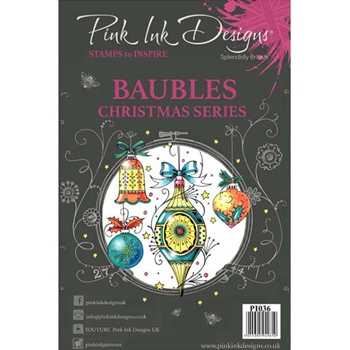 Pink Ink Designs BAUBLES A5 Clear Stamps pi036