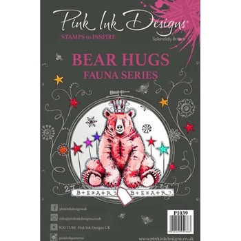 Pink Ink Designs BEAR HUGS A5 Clear Stamps pi039