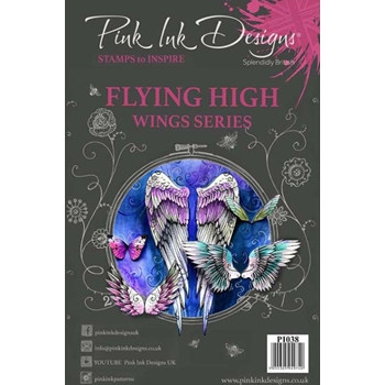 Pink Ink Designs FLYING HIGH A5 Clear Stamps pi038