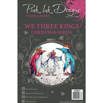 Pink Ink Designs WE THREE KINGS A5 Clear Stamps pi037