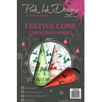 Pink Ink Designs FESTIVE CONE A5 Clear Stamps pi034