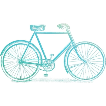 Couture Creations BICYCLE Clear Stamp Gentleman's Emporium co726842