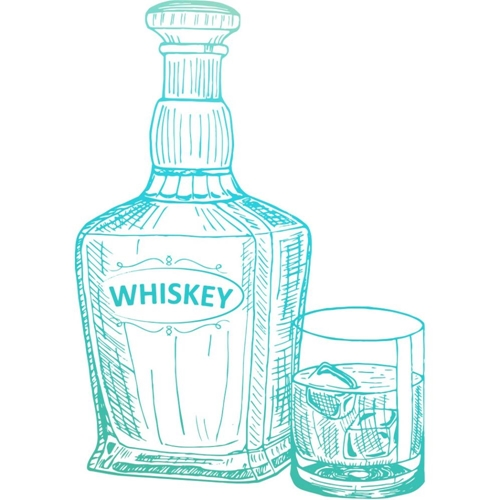 Couture Creations WHISKEY Clear Stamp Gentleman's Emporium co726843 Preview Image