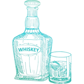 Couture Creations WHISKEY Clear Stamp Gentleman's Emporium co726843