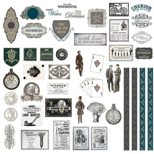 Couture Creations GENTLEMAN'S EMPORIUM Ephemera co726826 Preview Image