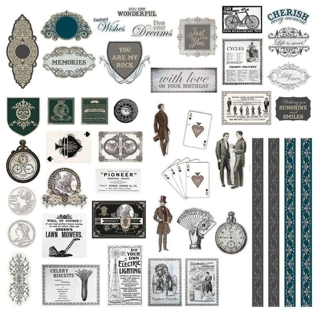 Couture Creations GENTLEMAN'S EMPORIUM Ephemera co726826 zoom image