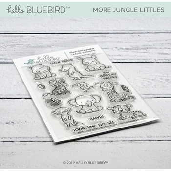 Hello Bluebird MORE JUNGLE LITTLES Clear Stamps hb2189