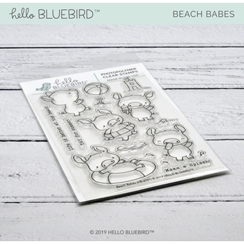 Hello Bluebird BEACH BABES Clear Stamps hb2191