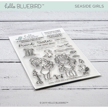 Hello Bluebird SEASIDE GIRLS Clear Stamps hb2193