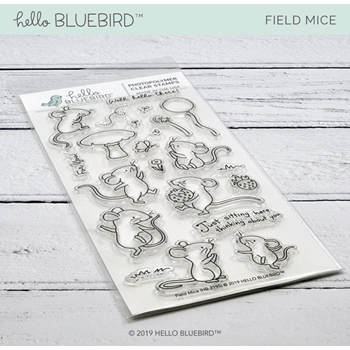 Hello Bluebird FIELD MICE Clear Stamps hb2195