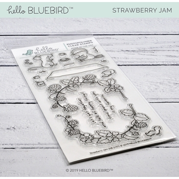Hello Bluebird STRAWBERRY JAM Clear Stamps hb2197
