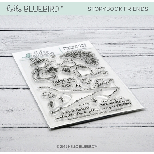 Hello Bluebird STORYBOOK FRIENDS Clear Stamps hb2199 Preview Image