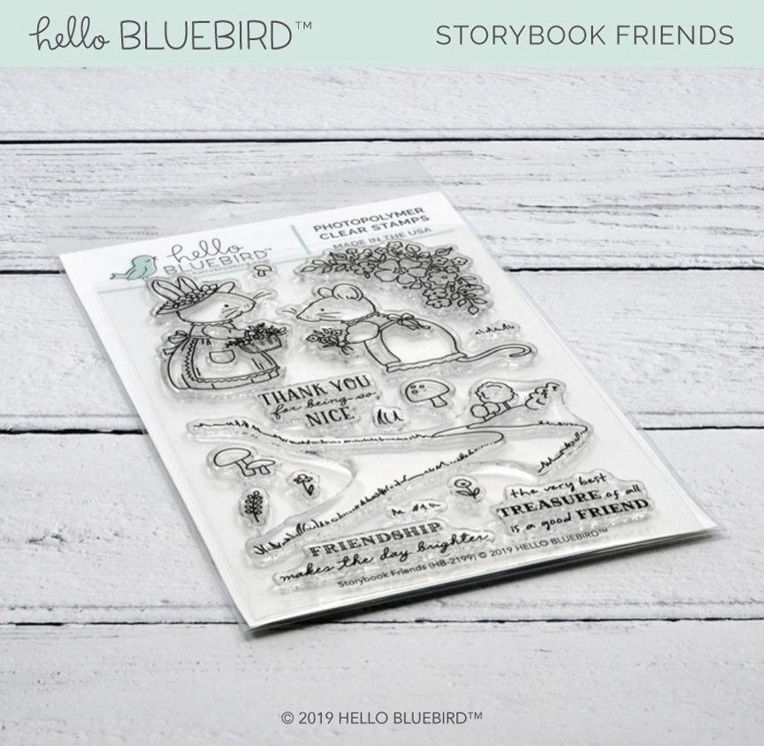 Hello Bluebird STORYBOOK FRIENDS Clear Stamps hb2199 zoom image