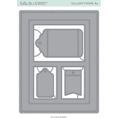 Hello Bluebird GALLERY FRAME 4 Die Set hb2186 Preview Image