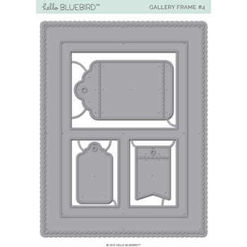 Hello Bluebird GALLERY FRAME 4 Die Set hb2186