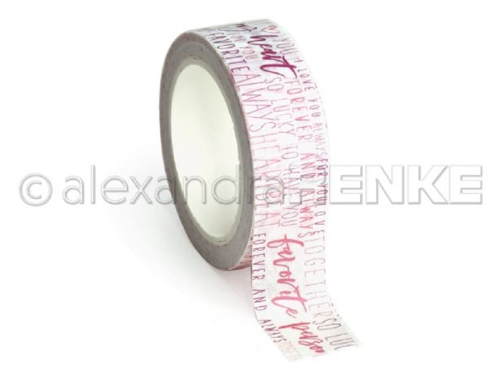 Alexandra Renke MY HEART TYPO Washi Tape wtarty0013 zoom image