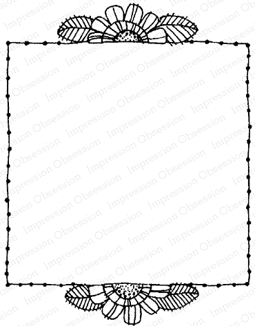 Impression Obsession Cling Stamp BLOSSOM FRAME E12071 Preview Image