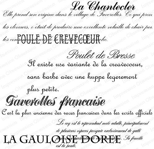 Impression Obsession Cling Stamp LA CHANTEDER H23031 Preview Image