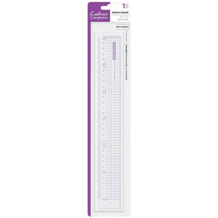 Crafter's Companion METAL EDGE ACRYLIC RULER cc-tool-mdrul30 zoom image