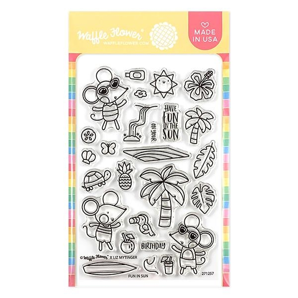 Waffle Flower FUN IN SUN Clear Stamps 271257 zoom image