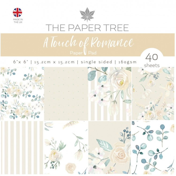 The Paper Tree A TOUCH OF ROMANCE 6x6 Paper Pad ptc1051 zoom image