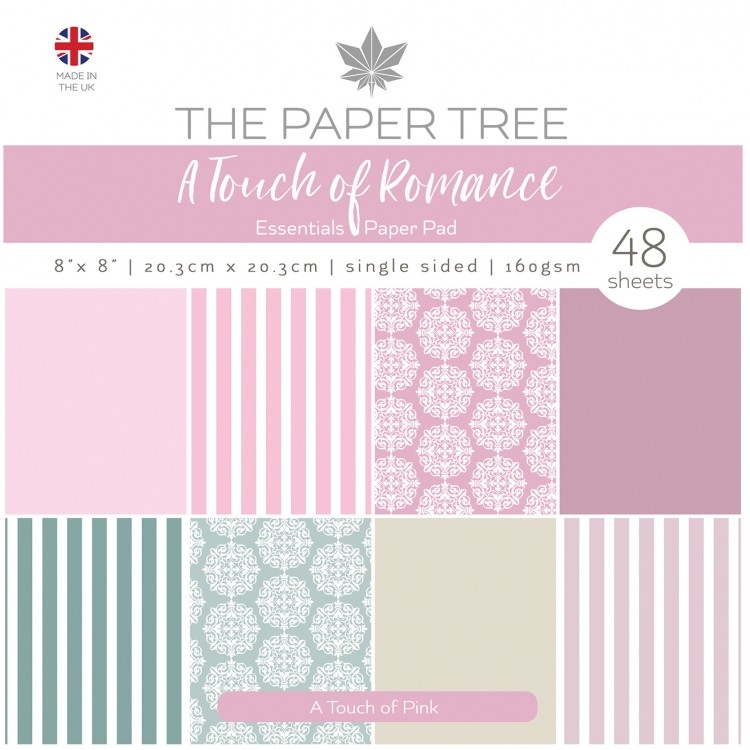 The Paper Tree A TOUCH OF PINK 8x8 Paper Pad ptc1059 zoom image