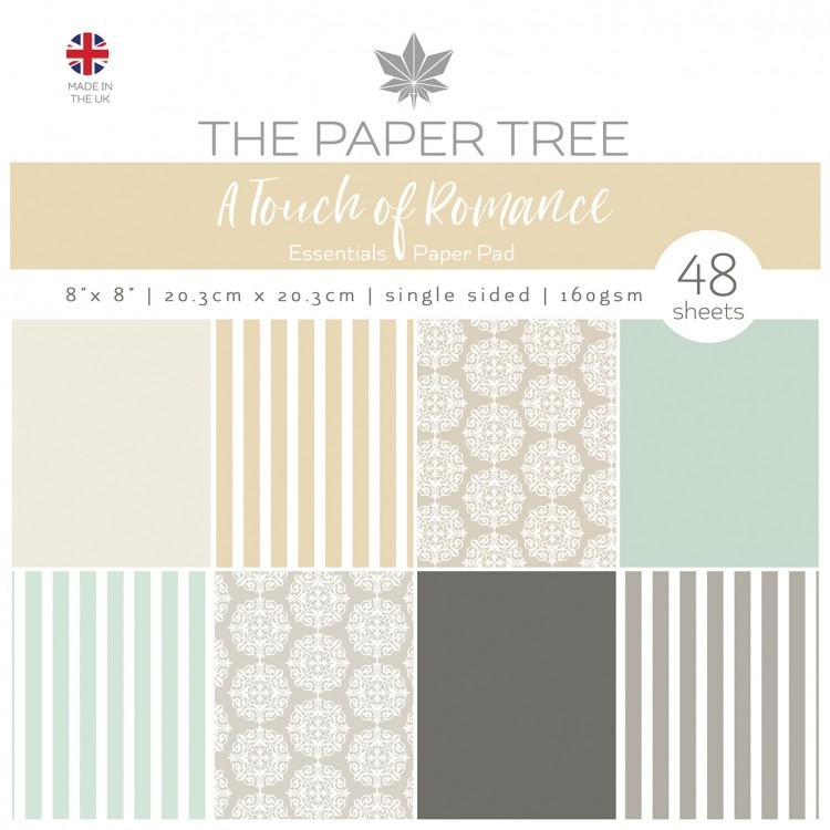 The Paper Tree A TOUCH OF ROMANCE ESSENTIALS 8x8 Paper Pad ptc1055 zoom image