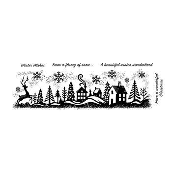 Woodware Craft Collection WINTER WONDERLAND Clear Stamps frs388