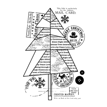 Woodware Craft Collection PAPER TREE Clear Stamp frs770