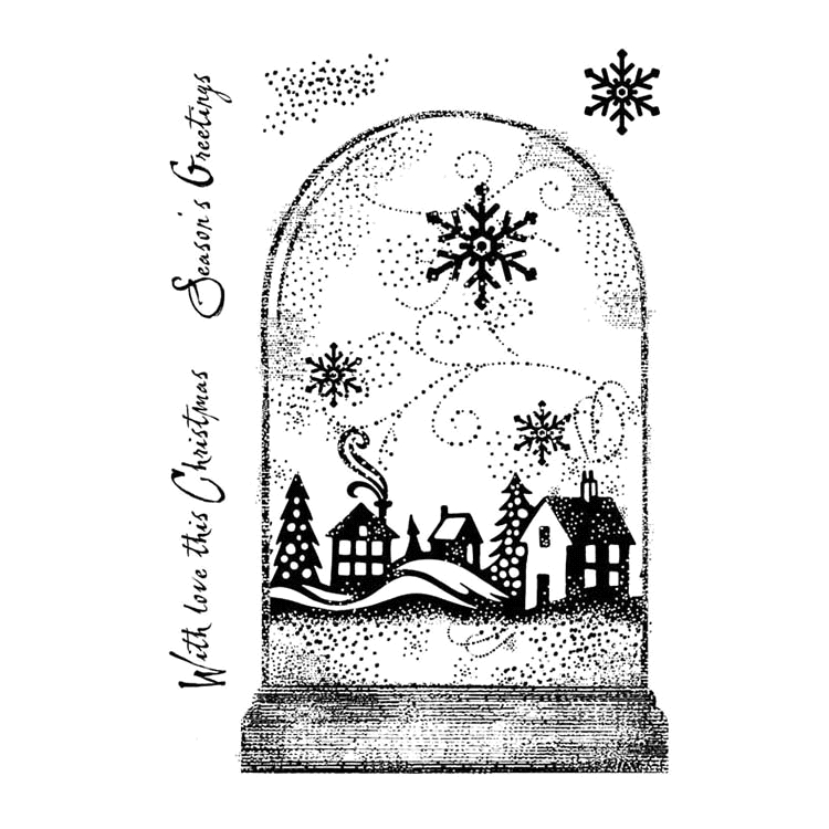 Woodware Craft Collection SNOWGLOBE Clear Stamps frs765 zoom image