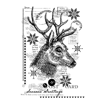 Woodware Craft Collection VINTAGE DEER Clear Stamp frs767