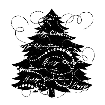 Woodware Craft Collection FIR TREE Clear Stamp frs075*