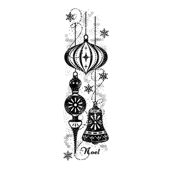 Woodware Craft Collection SPARKLY BAUBLES Clear Stamp frs387
