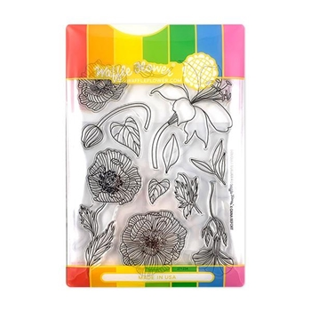 Waffle Flower BOUQUET BUILDER 4 Clear Stamp and Die Combo WFC254
