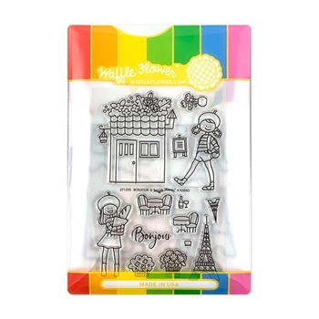 Waffle Flower BONJOUR Clear Stamp and Die Combo WFC255