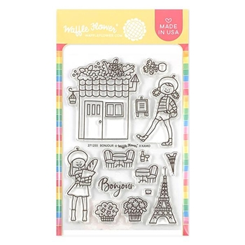 Waffle Flower BONJOUR Clear Stamps 271255