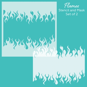 Honey Bee FLAMES Stencil hbsl-021n