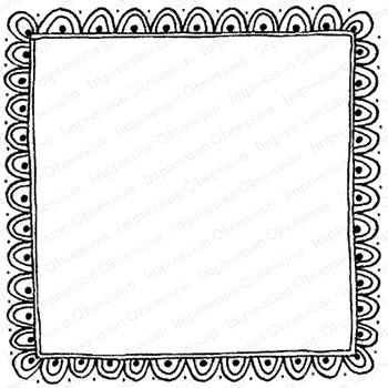Impression Obsession Cling Stamp SCALLOPED FRAME F12072