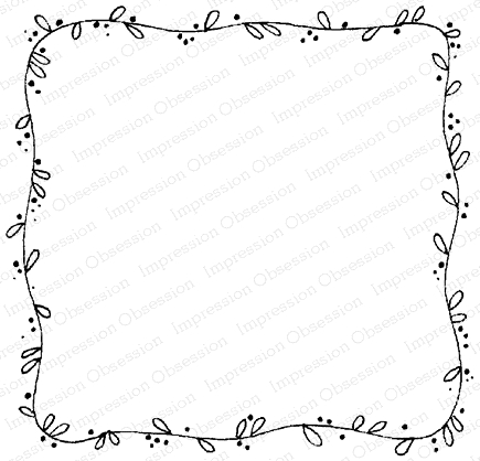 Impression Obsession Cling Stamp SQUARE VINE FRAME F12070 Preview Image