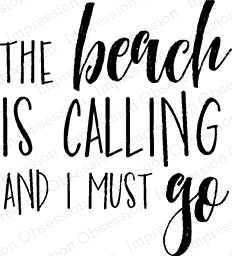 Impression Obsession Cling Stamp BEACH IS CALLING C14789 Preview Image