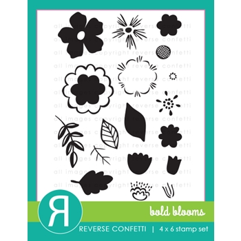 Reverse Confetti BOLD BLOOMS Clear Stamps