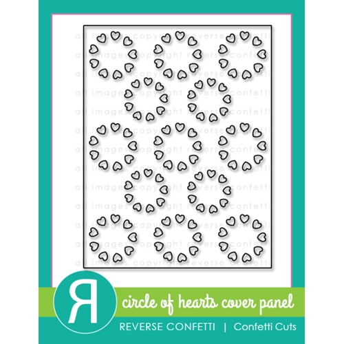 Reverse Confetti Cuts CIRCLE OF HEARTS Cover Panel Die Preview Image