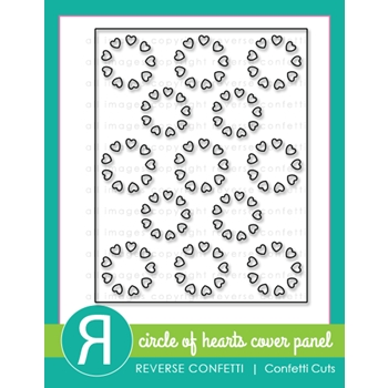 Reverse Confetti Cuts CIRCLE OF HEARTS Cover Panel Die