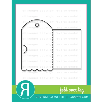 Reverse Confetti Cuts FOLD OVER TAG Dies