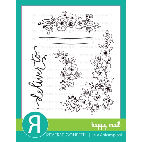 Reverse Confetti HAPPY MAIL Clear Stamps Preview Image
