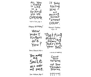 Inkadinkado Clear Stamps FRIENDLY ADVICE Kid Quotes Advise 99181 zoom image