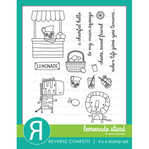 Reverse Confetti LEMONADE STAND Clear Stamps Preview Image