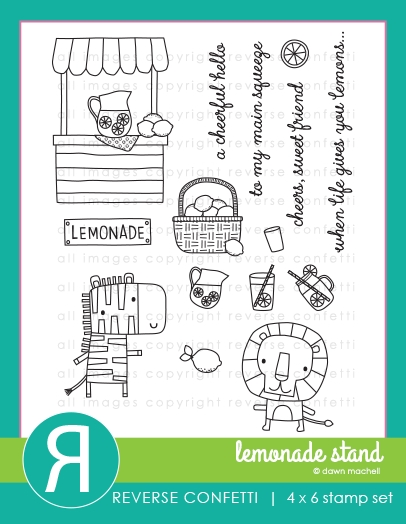 Reverse Confetti LEMONADE STAND Clear Stamps zoom image