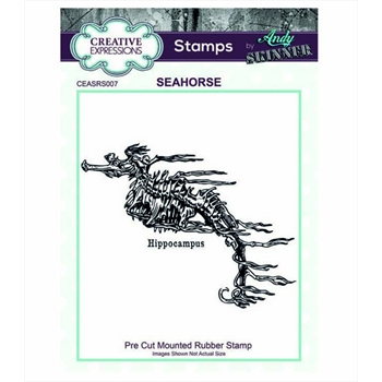 Creative Expressions SEAHORSE Andy Skinner Cling Stamp ceasrs007